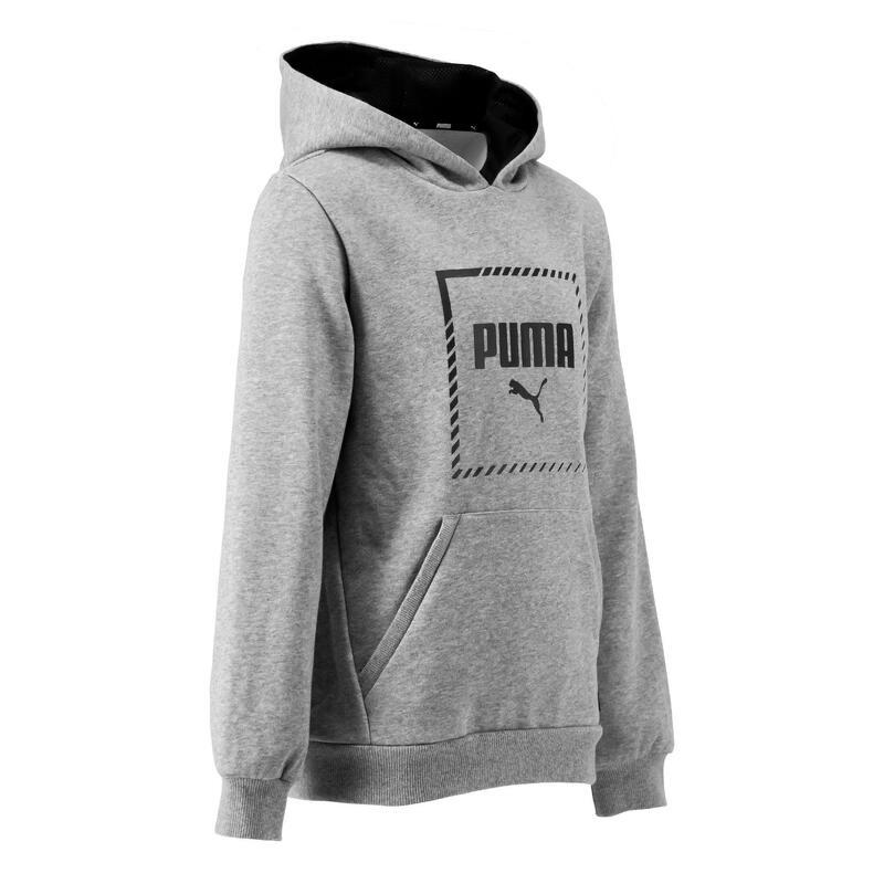Sweat capuche regular boy gris Puma