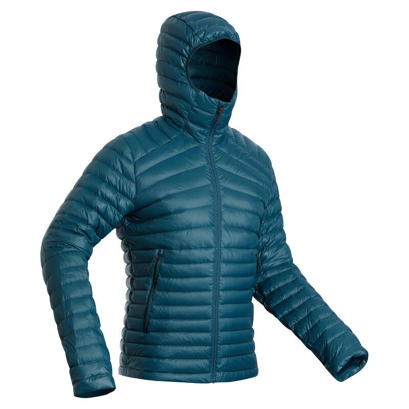 Men's Mountain Trekking Down Jacket - TREK 100 -5°C Petrol Blue