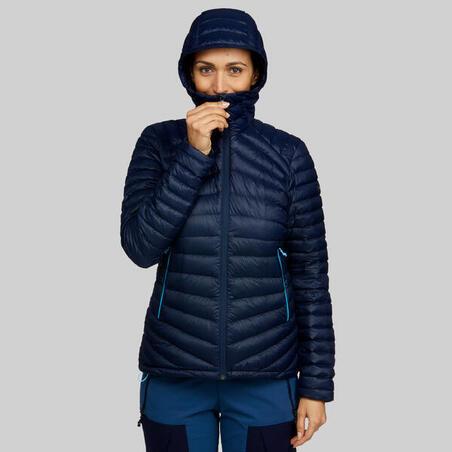 """Sieviešu kalnu trekinga dūnu jaka """"Trek 100"""", tumši zila"""