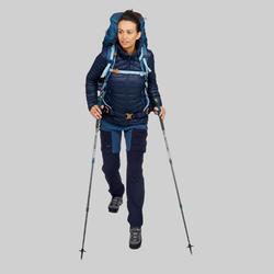 Doudoune duvet de trek en montagne - TREK 100 Marine Femme
