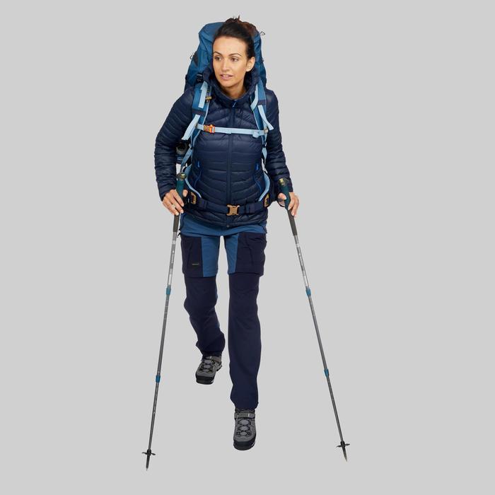 Doudoune plume de trek montagne - TREK 100 MARINE Femme