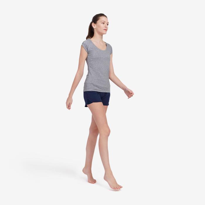 Short Sport Pilates Gym douce Femme 520 Bleu Marine