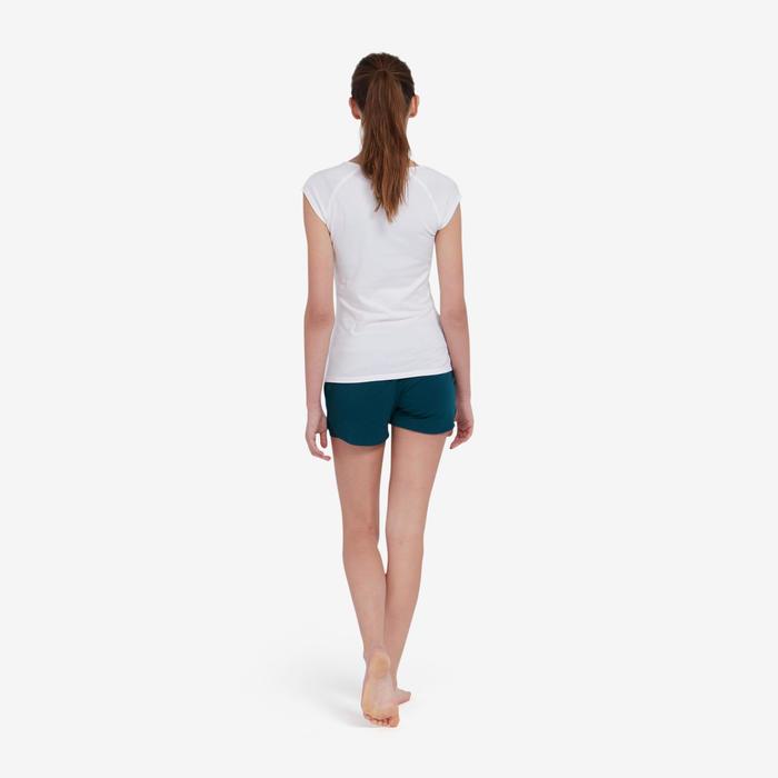 Short Sport Pilates Gym douce Femme 520 Bleu Pétrole
