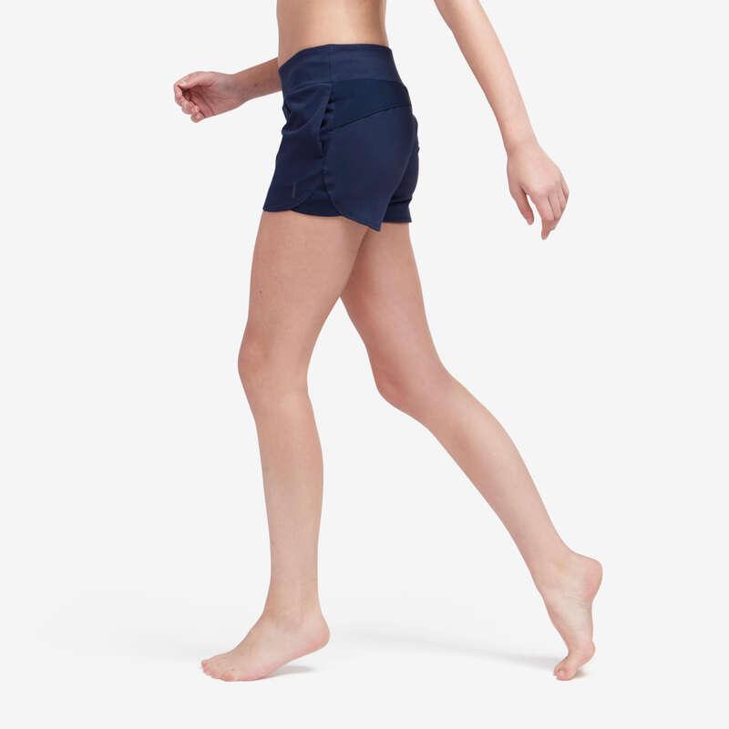 T-SHIRT LEGGINSY SHORT DLA KOBIET Fitness, siłownia - Spodenki 520 Gym DOMYOS - Odzież i buty fitness