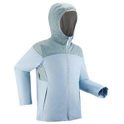 Girls' 7-15 Years Warm and Waterproof Hiking Jacket SH100 X-Warm