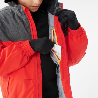 CHILDREN'S WARM AND WATERPROOF HIKING JACKET - SH100 X-WARM - 7-15 YEARS