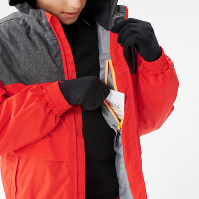 KIDS' WARM AND WATERPROOF HIKING JACKET - SH100 X-WARM - 7-15 YEARS