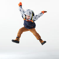 CHILDREN'S WARM WATER REPELLENT HIKING TROUSERS - SH100 X-WARM - AGE 2-6