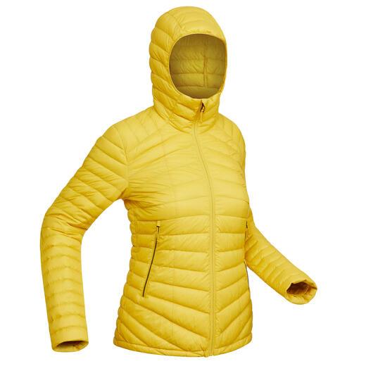Piumino montagna donna TREK500 PIUMA giallo