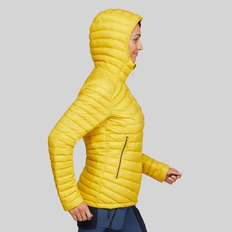 Women's Mountain Trekking Down Jacket - Trek 100 -5°C - Yellow