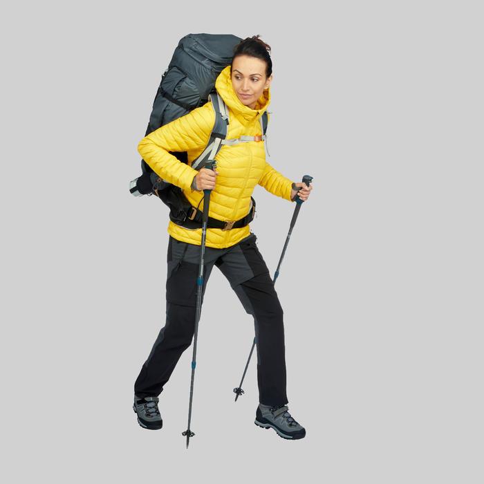 Doudoune duvet de trek en montagne - TREK 100 Jaune Femme