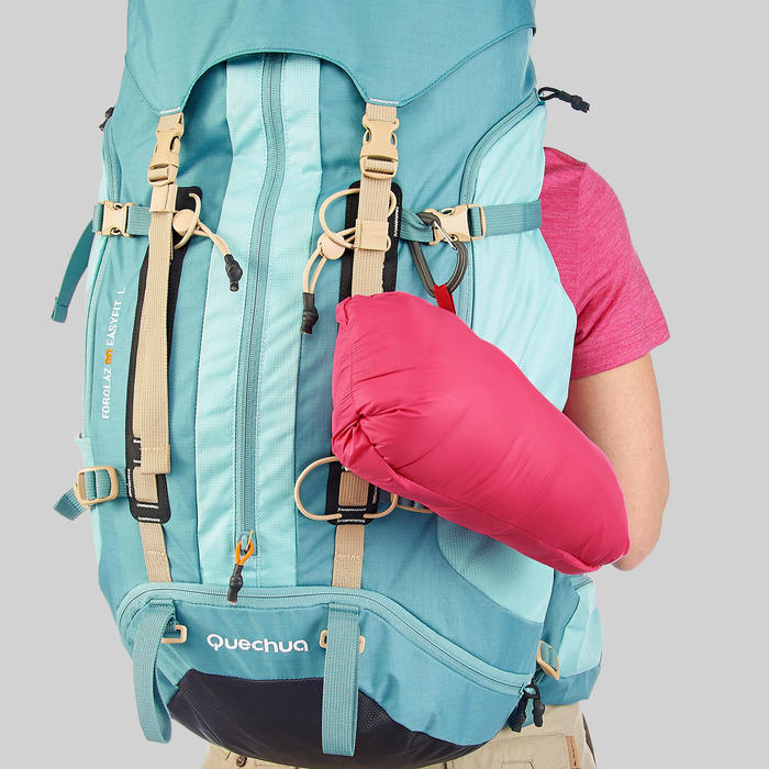 Doudoune plume de trek montagne - TREK 100 ROSE Femme