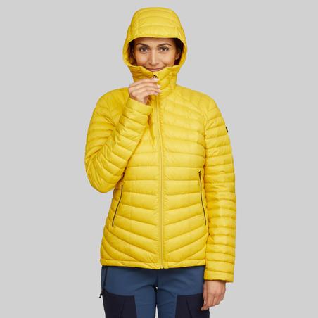 """Sieviešu kalnu trekinga dūnu jaka """"Trek 100"""", dzeltena"""
