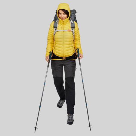 WOMEN'S MOUNTAIN TREKKING DOWN JACKET - MT 100 -5°C - YELLOW