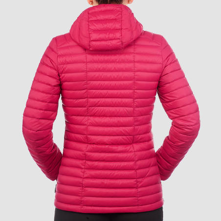 Women's Mountain Trekking Down Jacket - TREK 100 - PINK