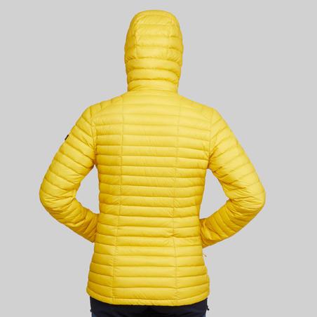 Chamarra Plumón Montaña y Trekking TREK100 Acolchada Mujer Amarillo