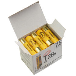 CARTOUCHE BALL TRAP T100 28g CALIBRE 20/70 PLOMB N°7,5 X25
