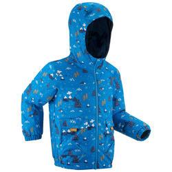 CHILDREN'S WARM WATERPROOF HIKING JACKET - SH100 WARM - AGE 2-6
