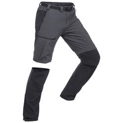 Men's Mountain Trekking Zip-Off Trousers - Trek 500 - Dark grey