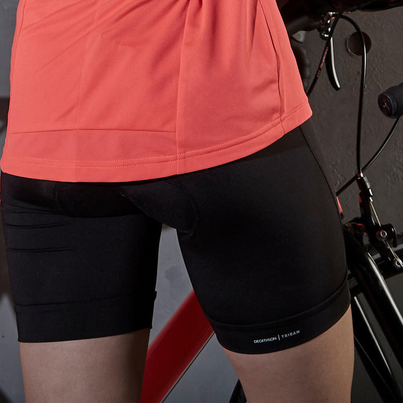 100 Women's Bibless Cycling Shorts - Black