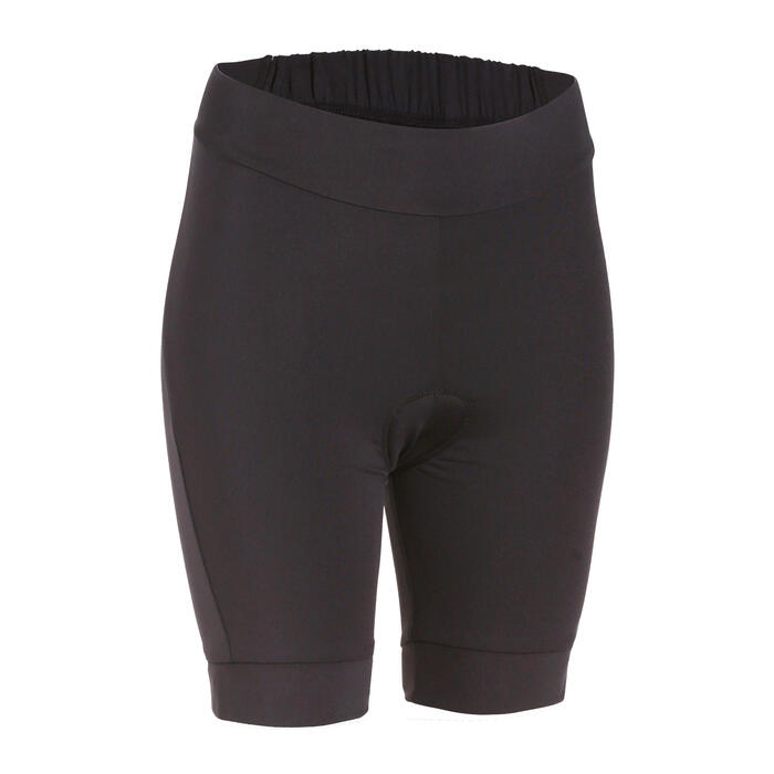 Essential Women's Padded Cycling Shorts - Black