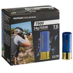CARTUCHO BALL-TRAP T900 24G FOSSA CALIBRE 12/70 CHUMBO N.° 7,5 X25 SOLOGNAC