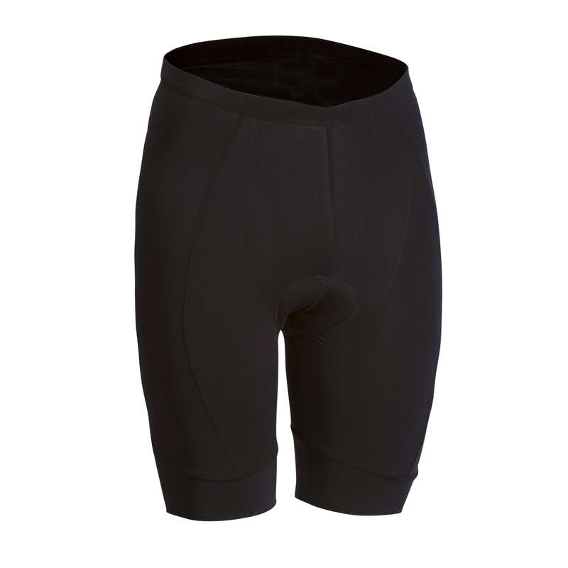 MEN WARM WEATHER ROAD CYCLING APPAREL Cycling - Essential Padded Cycling Shorts - Black BTWIN - Cycling