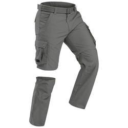 Men's travel trekking trousers - TRAVEL 100 - khaki