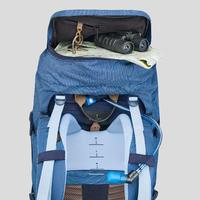 TREK 500 50+10 L Mountain Trekking Backpack Blue - Women's