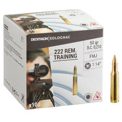 MUNITION DE TIR SPORTIF 222 REMINGTON FMJ TRAINING X 100q