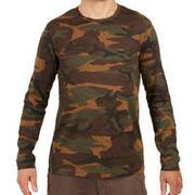 Men's Full Sleeve T-Shirt 100 Camo Green/Brown