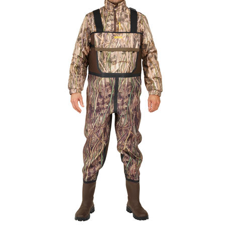 Neoprene hunting waders 500 - wetland camouflage