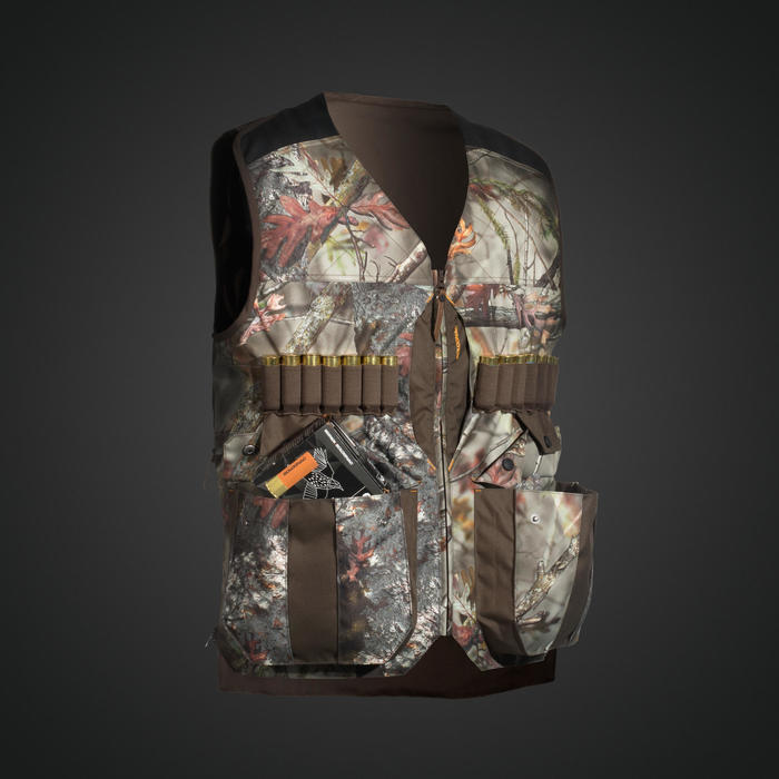 GILET CHASSE 500 CAMOUFLAGE KAMO-BR