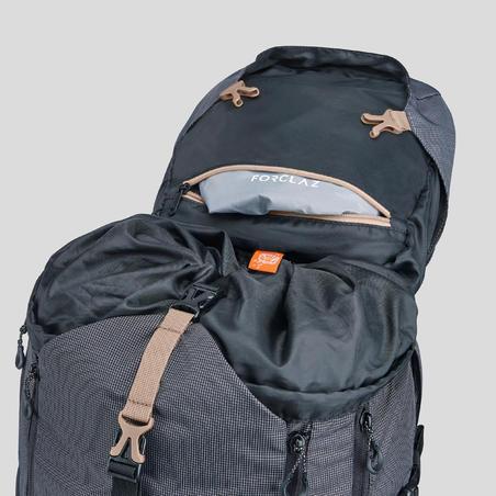 Men's mountain trekking rucksack   TREK 500 50+10L - black
