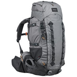 Men's mountain trekking rucksack _PIPE_ TREK 900 Symbium 50+10L - light grey