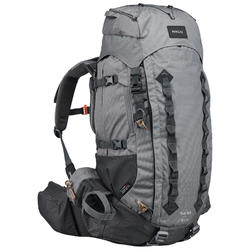 Men's mountain trekking rucksack | TREK 900 Symbium 50+10L - light grey