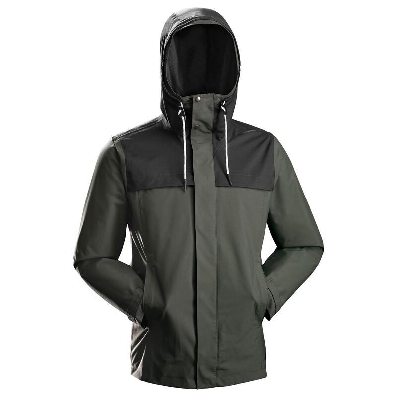 3-in-1 jas voor backpacken heren Travel 100 groen