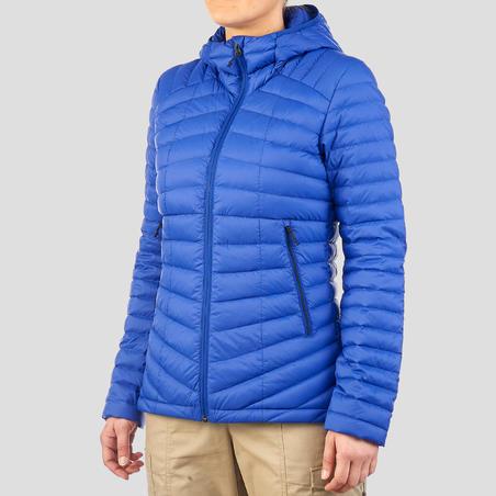 Women's Mountain Trekking Down Jacket Trek 100 - Blue