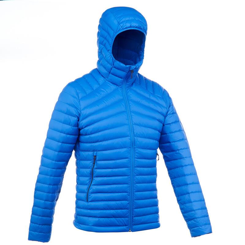 Donsjas voor bergtrekking heren Trek 100 -5°C blauw