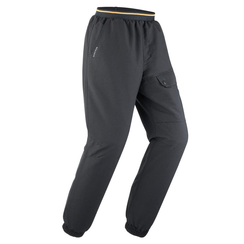 CHILDREN'S WARM WATER REPELLENT HIKING TROUSERS - SH100 X-WARM - AGE 7-15