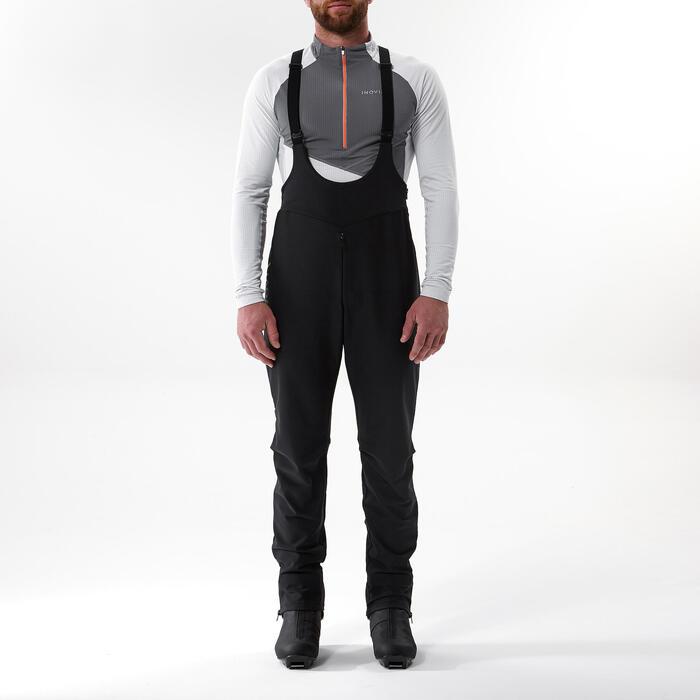 Surpantalon de ski de fond noir XC S OVERP 900 - Homme
