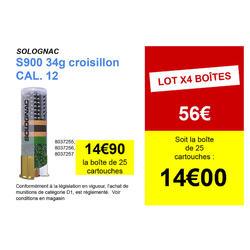 CARTOUCHE S900 34g CONFORT CALIBRE 12/67 PLOMB N°7 X25