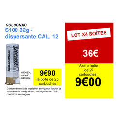 CARTOUCHE S100 32G DISPERSANTE CAL12/70 PB9X25