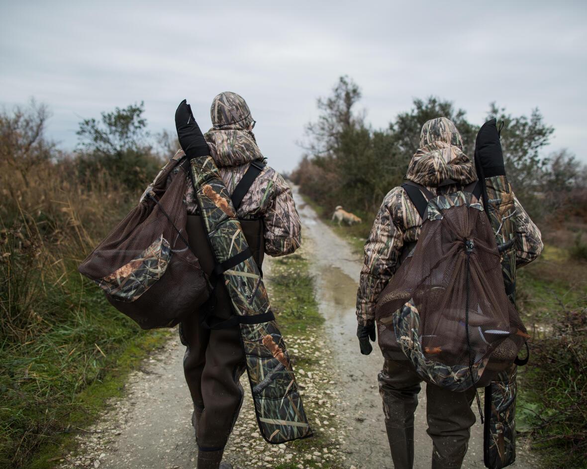 Fourreau de fusil de chasse motif camo marais
