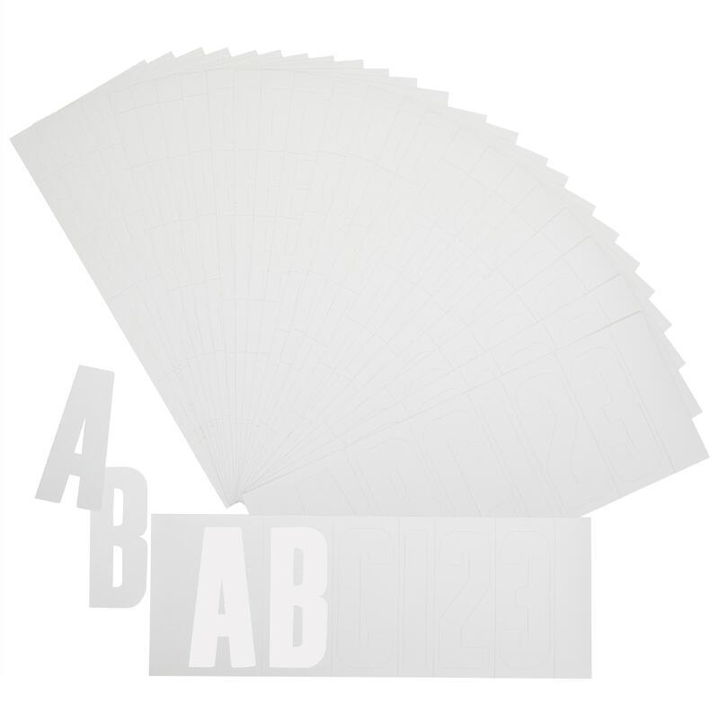 Kit d'immatriculation adhésif bateau blanc