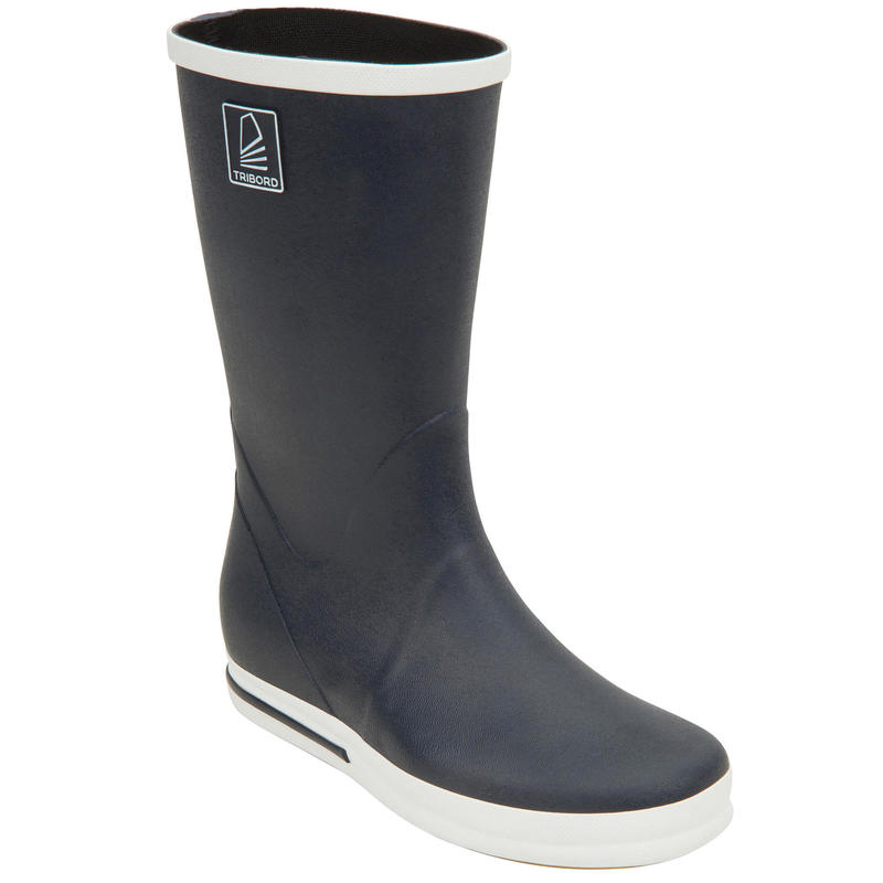 Adult's Sailing Boating Boots 500 - Navy