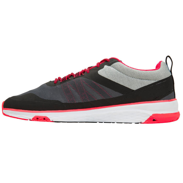 Women's sailing boat trainers Race 500 - Grey Pink