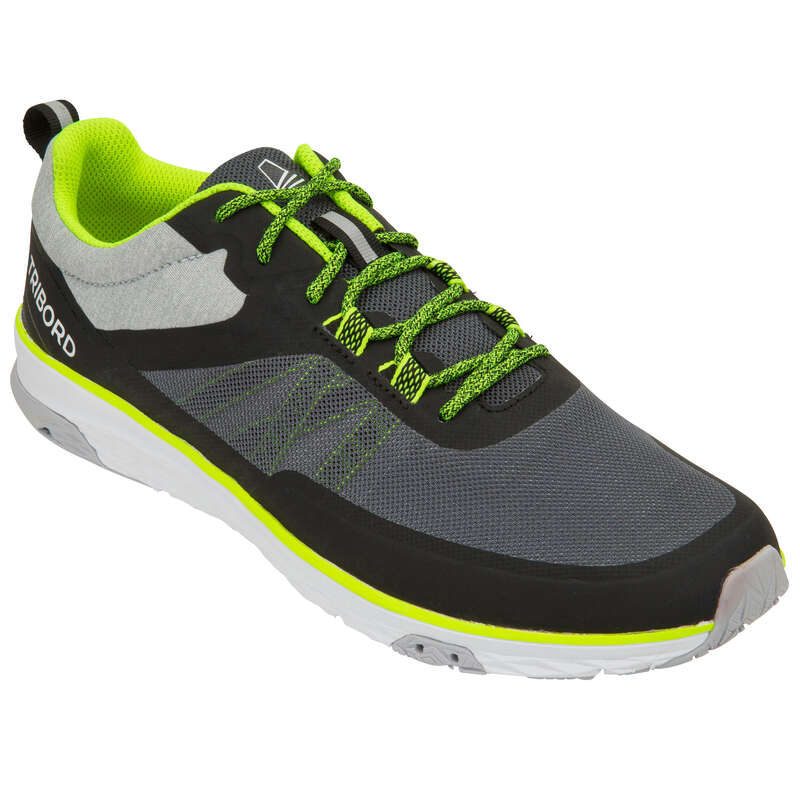 REGATTA SHOES MAN Sailing - Men's Race Shoes - Grey Yellow TRIBORD - Sailing