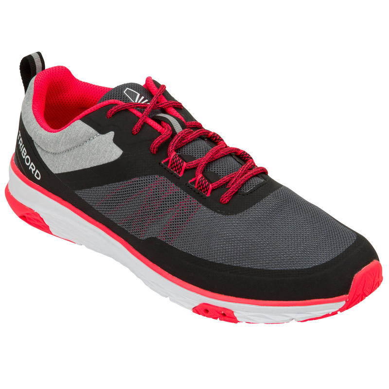 Dámské boty na jachting Race 500 šedo-růžové