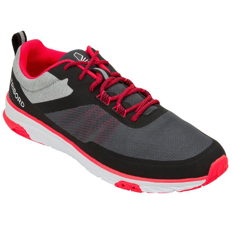 Zeilschoenen voor dames Race 500 grijs/roze